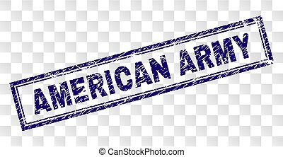 Grunge AMERICAN ARMY Rectangle Stamp