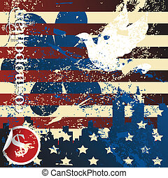 Grunge american concept