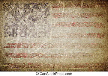 Grunge american flag background. Perfect for text placing.