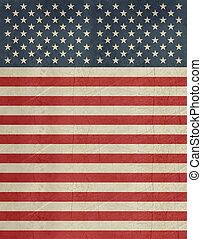Grunge American flag banner