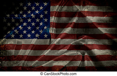 Grunge American Flag - Grunge American flag backgrund with...