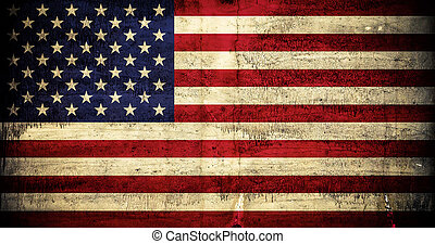 Grunge American Flag - American flag with grunge texture...