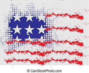 grunge american flag vector art