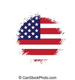 Grunge American flag. Vector dirty USA flag.