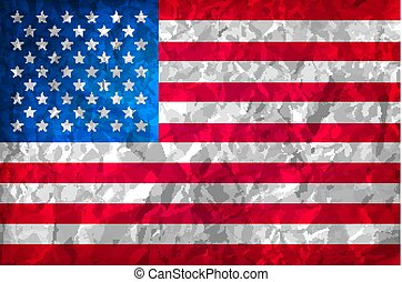 Grunge American flag. Watercolor flag of USA. vector background