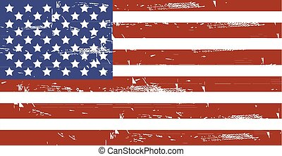 Grunge American flag.Vector dirty USA flag.