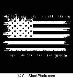 Grunge American flag.Vector flag of USA.
