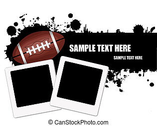 Grunge american football background - Grunge american...