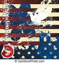 grunge, americano, conceito