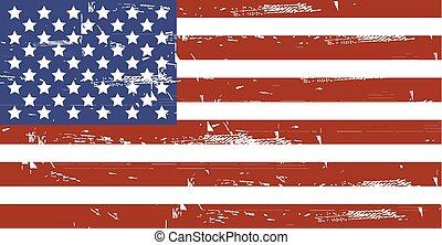 grunge, americano, flag.vector, sujo, eua, flag.