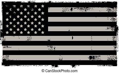 grunge, amerikaan, zwarte achtergrond