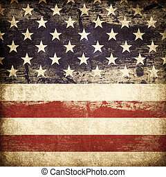 grunge, amerikai, hazafias, téma, háttér.