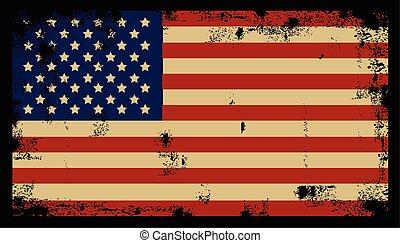 grunge, amerikan, bakgrund, 2