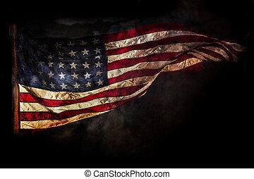 grunge, amerikan flagga