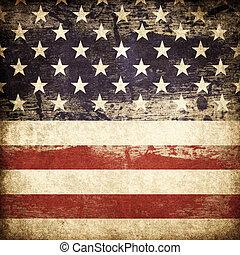 grunge, amerikan, fosterländsk, tema, bakgrund.