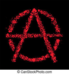 Grunge anarchy symbol , vector illustration