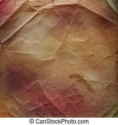 Grunge ancient used paper in scrapbooking style with space for text or image