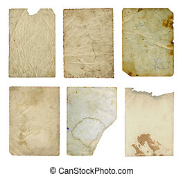 Grunge ancient used paper in scrapbooking style