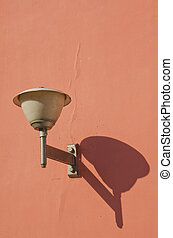 grunge and vintage old town lamp