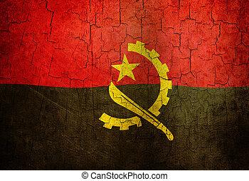 Grunge Angola flag