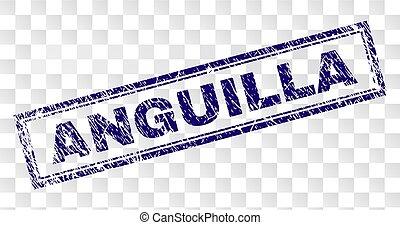 Grunge ANGUILLA Rectangle Stamp