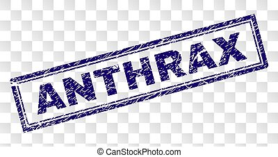 Grunge ANTHRAX Rectangle Stamp