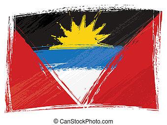 Grunge Antigua and Barbuda flag - Antigua and Barbuda...