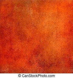 grunge, arancia, struttura, astratto, fondo