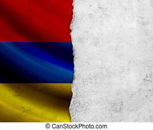 Grunge Armenia flag