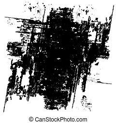 grunge, arrière-plan noir, (vector)