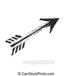 grunge arrow, vector