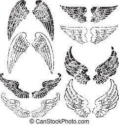 grunge, asas, anjo