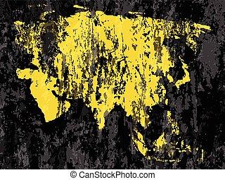 grunge Asia map