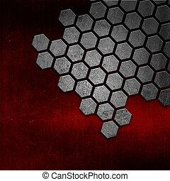 grunge, astratto, metallo, struttura, fondo, rosso