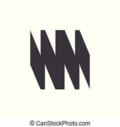 grunge, astratto, vettore, disegno, lettera, logotipo, wm