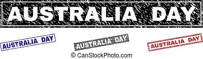 Grunge AUSTRALIA DAY Textured Rectangle Stamp Seals