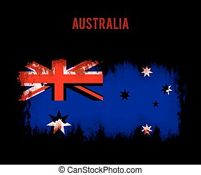 Grunge australian flag
