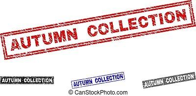 Grunge AUTUMN COLLECTION Textured Rectangle Watermarks
