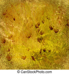 Grunge autumn textured art print