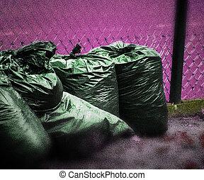 grunge, avskräde, bakgrund, violett