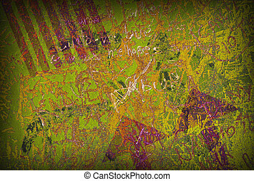 Grunge Background 4 - Colorful grunge background with...