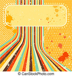 Grunge background. A vintage poster. - Vintage poster in...