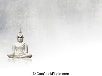 Grunge background, buddha - White buddha and light grungy ...