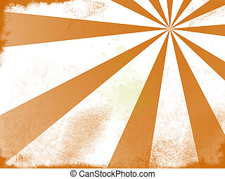 Grunge Background - A grunge style orange sun background