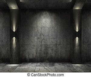 Grunge background concret vault - grunge background of an...
