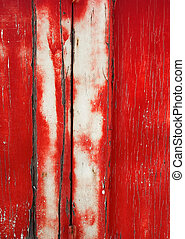 Grunge Background: Cracked Red Door