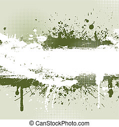 Grunge background - Detailed grunge background with splats...