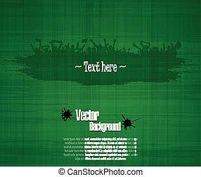 Grunge background for sporting events and concerts