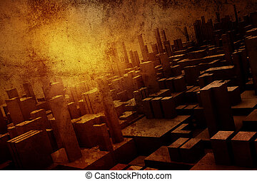 grunge background - Grunge architectural background