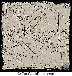 grunge background - Grunge background with a scratched ...